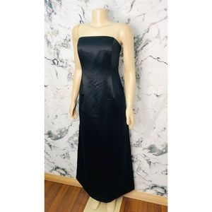 Ann Taylor Strapless Formal Evening Gown Black